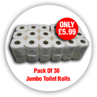 Pack of 36 Jumbo Toilet rolls only £5.99