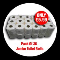 Pack of 36 Jumbo Toilet rolls only £5.99