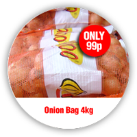 Onion Bag 4kg only £1.50