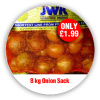 10 kg onion sack only £2.99